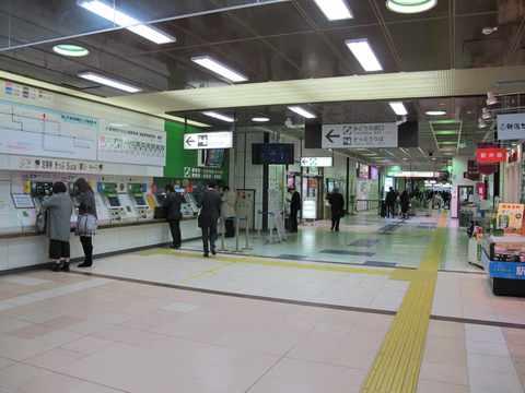 駅構内[東京へ]