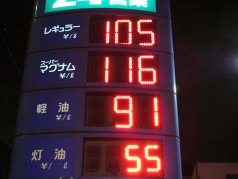 ガソリン・灯油安いです。