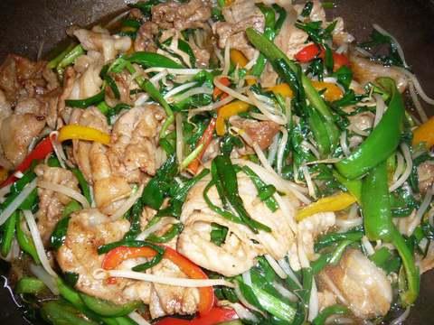 豚肉とニラのスタミナ炒め