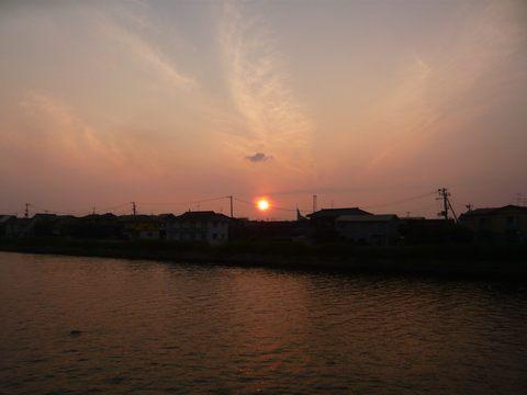 夕日-2015年6月25日(木)