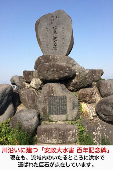 安政の大水害 百年記念碑