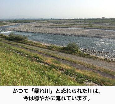 富山平野を流れる「常願寺川」