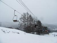 孫とスキー