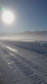 朝は快晴、⛄冷えた寒い。…