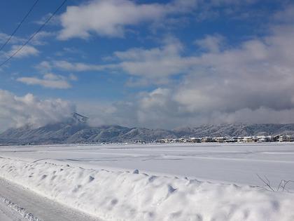 大雪後の晴れ間