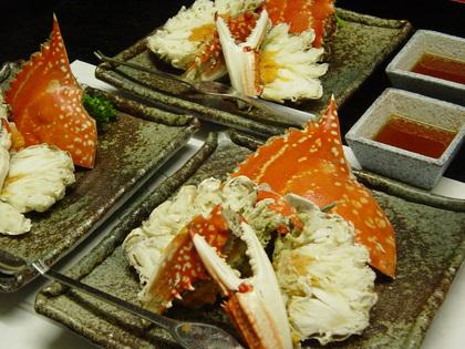 渡り蟹の酢物