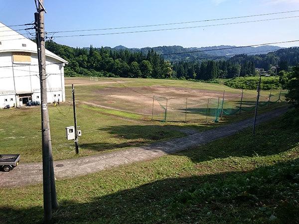 松之山中学校 最後の草刈り