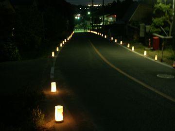 観音寺の春まつりで手作り行灯