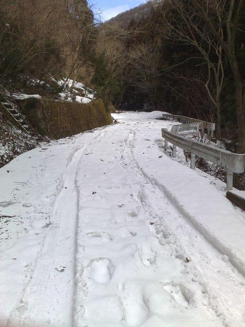 八枚沢登山口も雪解けまぢか