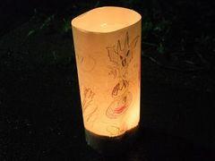 観音寺の春まつり・ペットボトルで手作り行灯