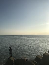 秋の釣りに行く。間瀬漁港にて。