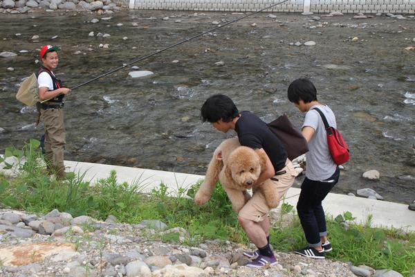日本テレビ『ZIP~にっぽんわくわくキャラバン』守門川へ鮎釣りにやってきました!