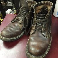 Whites Boots×vibram#430ヒール+シューケア