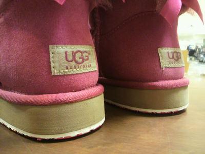 UGG BAILEY BOW×vibramスカルソールホワイト×ピンク