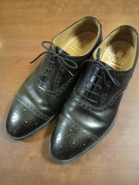 Crockett&Jones×vibramEXハーフラバー+靴磨き