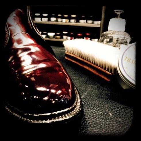 今日まで、靴のお手入れ実演会