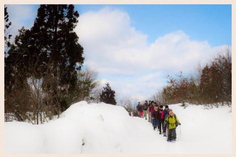 スノーシュー森の散策ツアー