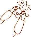 鼻柱の温湿布