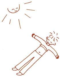 おへその日光浴