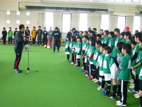 2月11日 しただにサッカー元日本代表が来ました!!