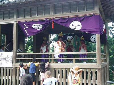 白山神社秋季大祭神楽奉納