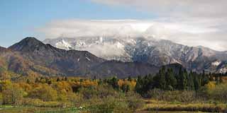 粟ヶ岳雪化粧 11月22日