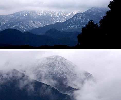 今日からお山も雪景色