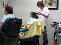 前髪つくりに床屋行ってきました。。。3歳です。