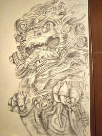 石川雲蝶の彫刻を描いてみた その五    「国内のコロナ陽性者数VS空港検疫で陽性となった人数その四」