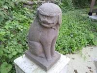 青海川の神社にて