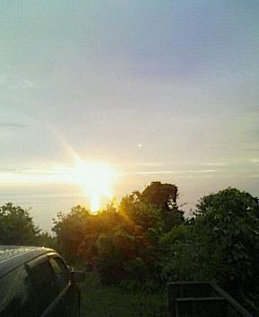 日本海の夕日 柏崎より